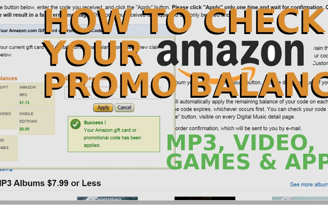 How to check your Amazon promotional balance