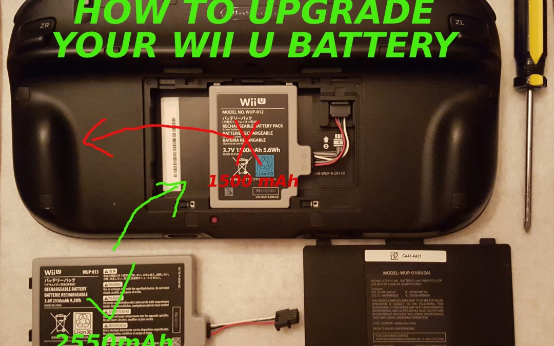 How to Upgrade Your Wii U Controller Battery