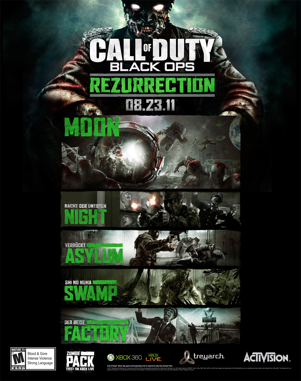 Ps Vita Cod Zombies Game News Activision Rezurrects An All Zombies Dlc Pack For Call