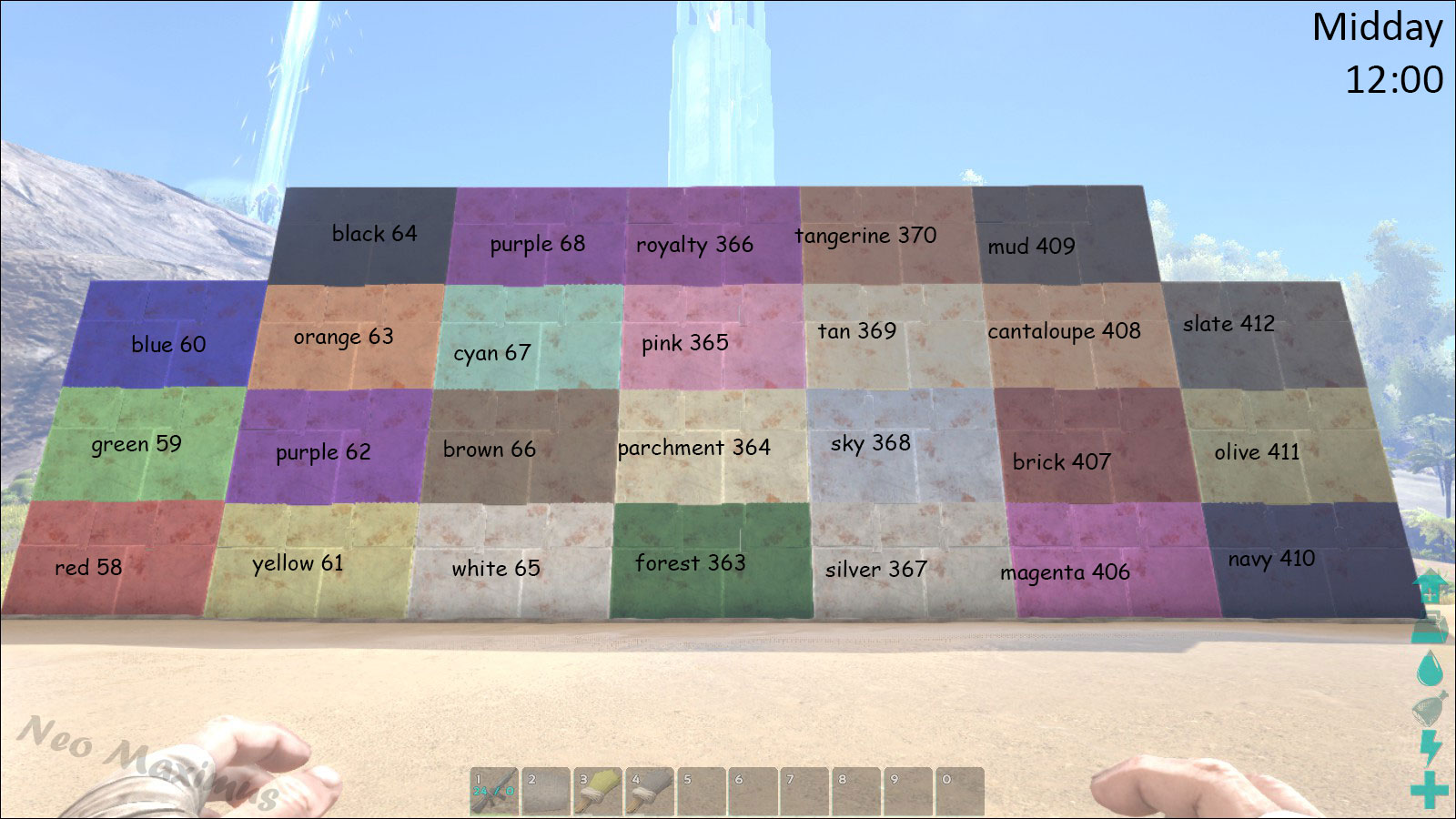 Como Hacer El Color Lila Con Pintura Tinte Official Ark Survival Evolved Wiki