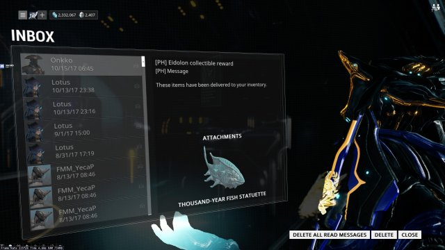Decoration Formation Warframe - Thousand-year Fish Statuette Locations