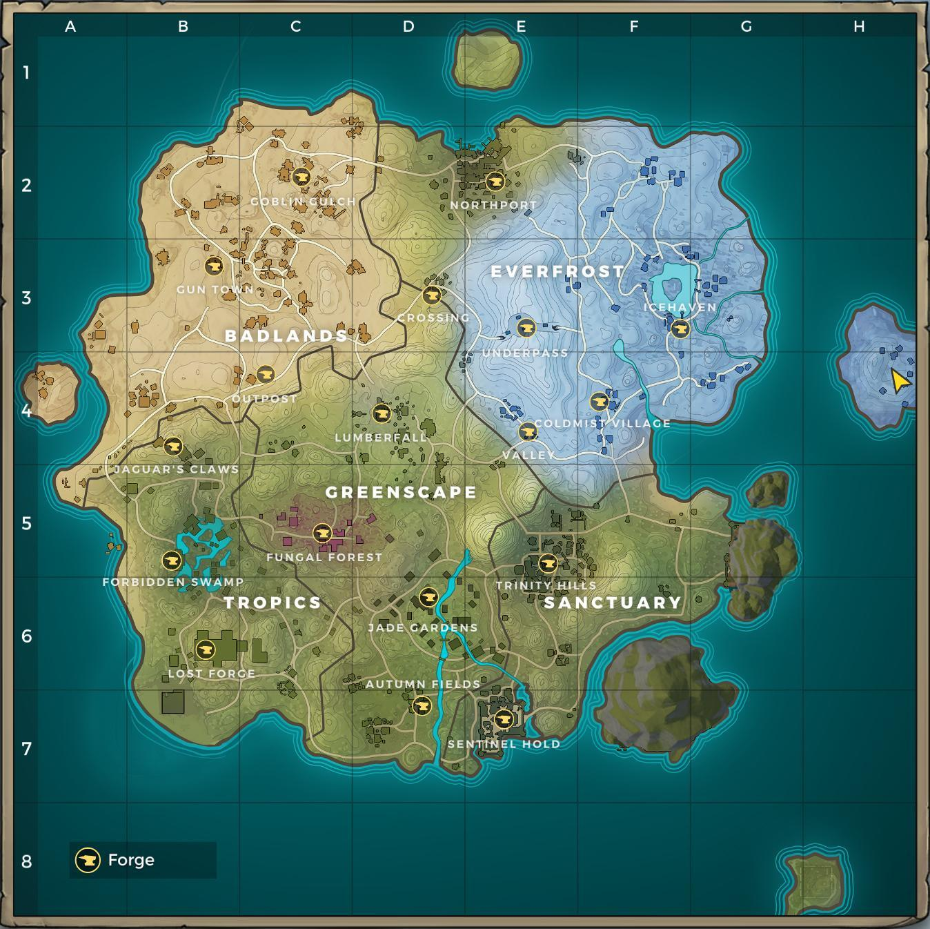 Cuisine Royale Guide Realm Royale World Map