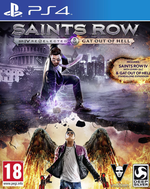 Saints Row IV: Re-Elected & Saints Row: Gat Out of Hell PS4 Cover