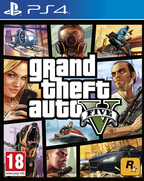 Grand Theft Auto V PS4 Cover