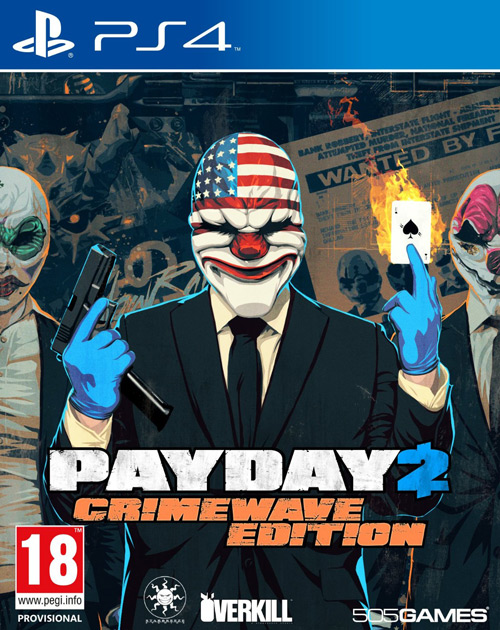 Payday 2: Crimewave Edition PS4 Cover