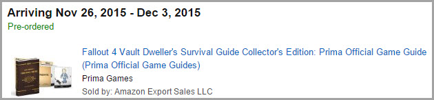 Fallout 4 strategy guide order