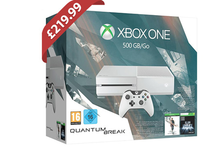 White Xbox One 500GB With Quantum Break - £219.99 @ Game