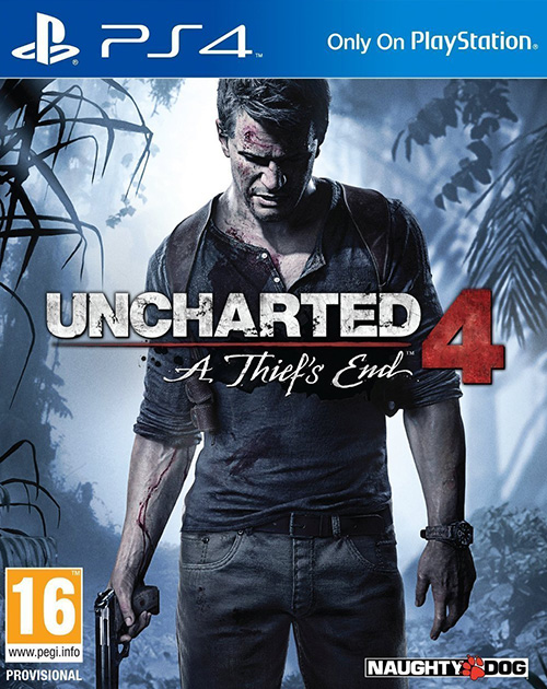 Uncharted 4: A Thief's End PS4 Cover
