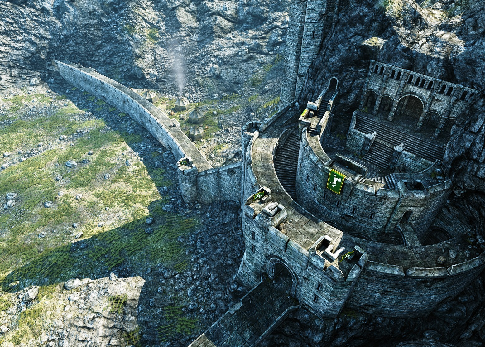 Earth Animated Wallpaper Lord Of The Rings Online Helm S Deep Destory Bridges