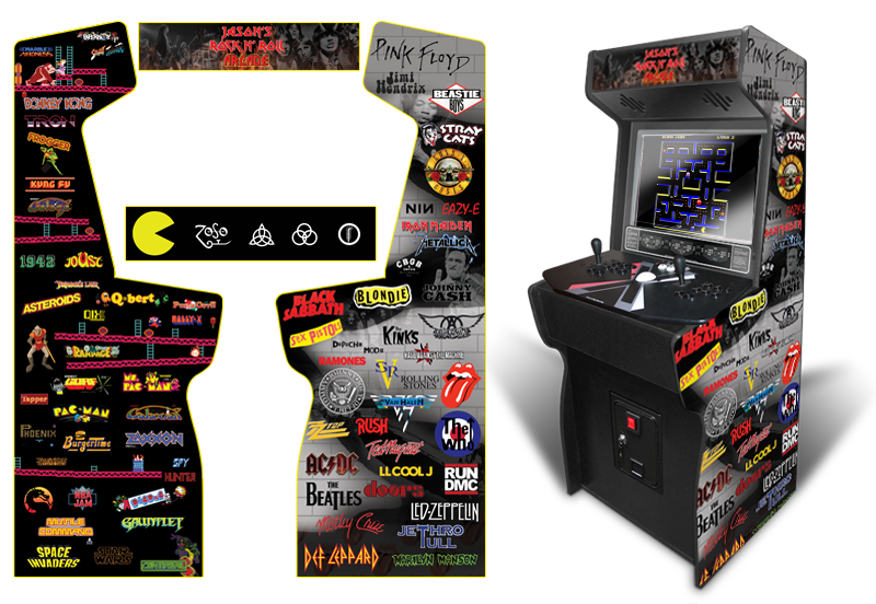 Vintage Arcade Games >> » Classic Arcade Inspired Arcade Graphics Game Room Graphics