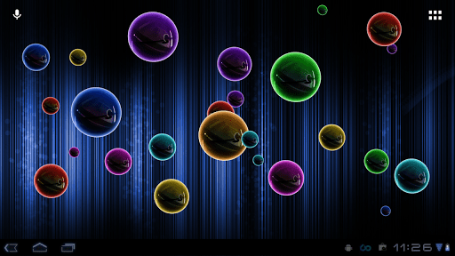 3d Fireflies Live Wallpaper Apk Скачать Neon Bubble Live Wallpaper неоновые шарики на