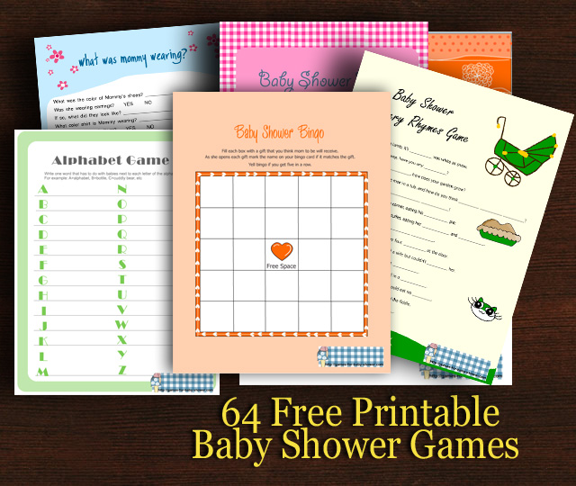 61 Free Printable baby Shower Games