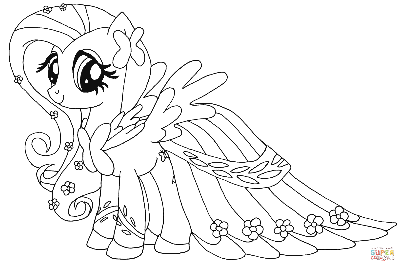 My Little Pony Coloring Pages Fluttershy Democraciaejustica