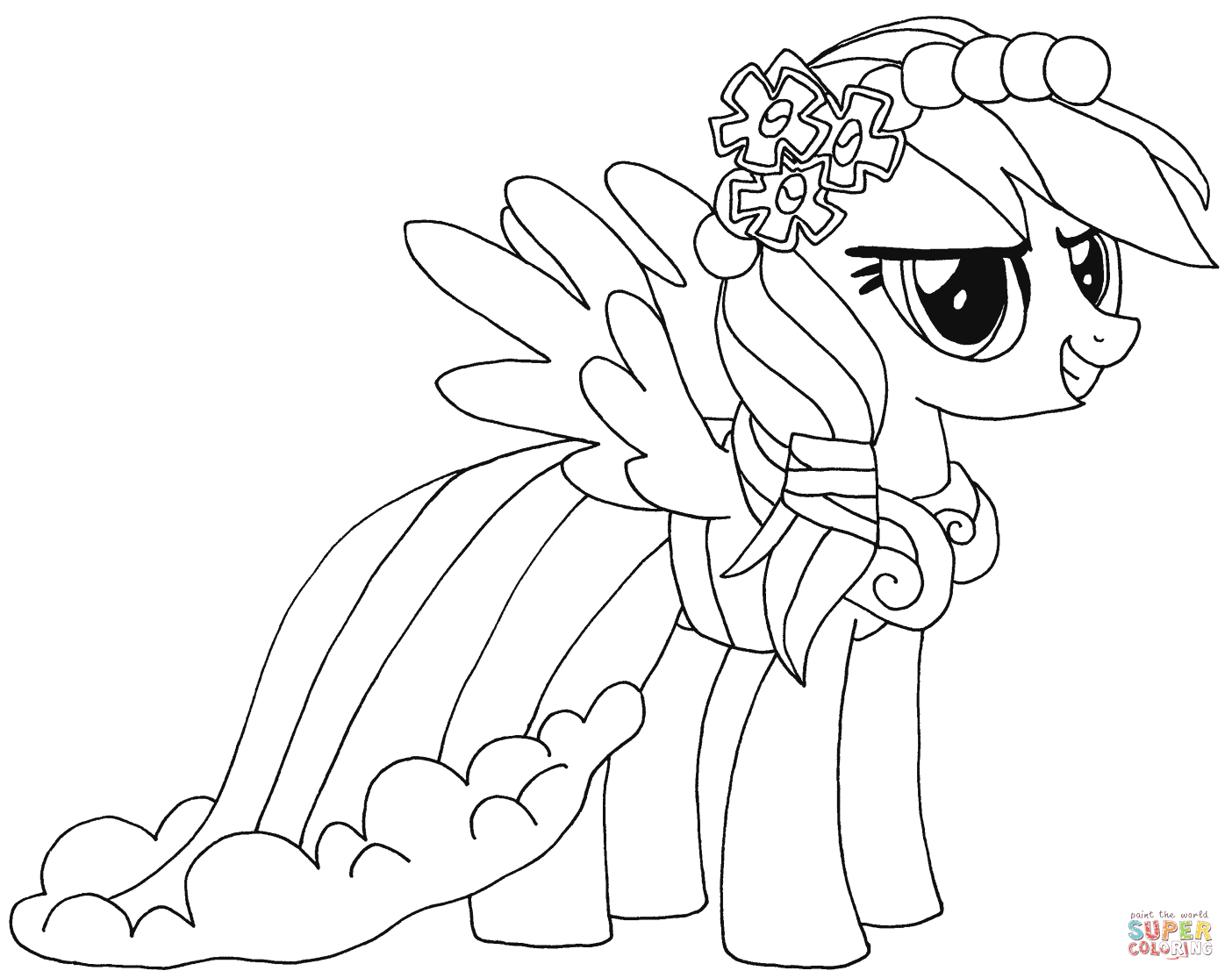 My Little Pony Princess Ausmalbilder : My Little Pony Coloring Pages Games Costumepartyrun