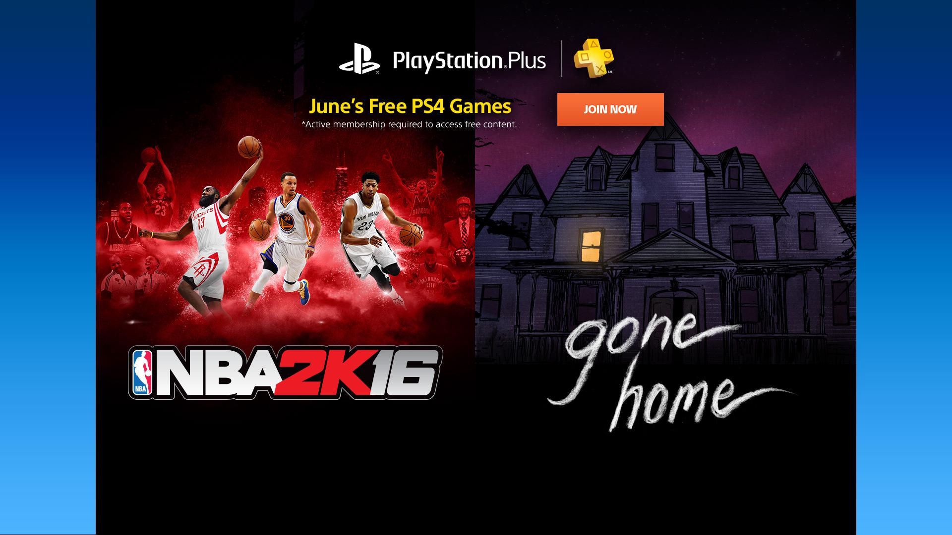 NBA και Gone Home στα δωρεάν παιχνίδια του PS Plus τον Ιούνιο Plus