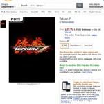 英Amazon『鉄拳7』PS4/XboxOne/PC版を一時掲載