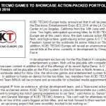 コーエーテクモゲームス、E3 2016でオメガフォース開発のトップシークレットタイトルを発表すると予告