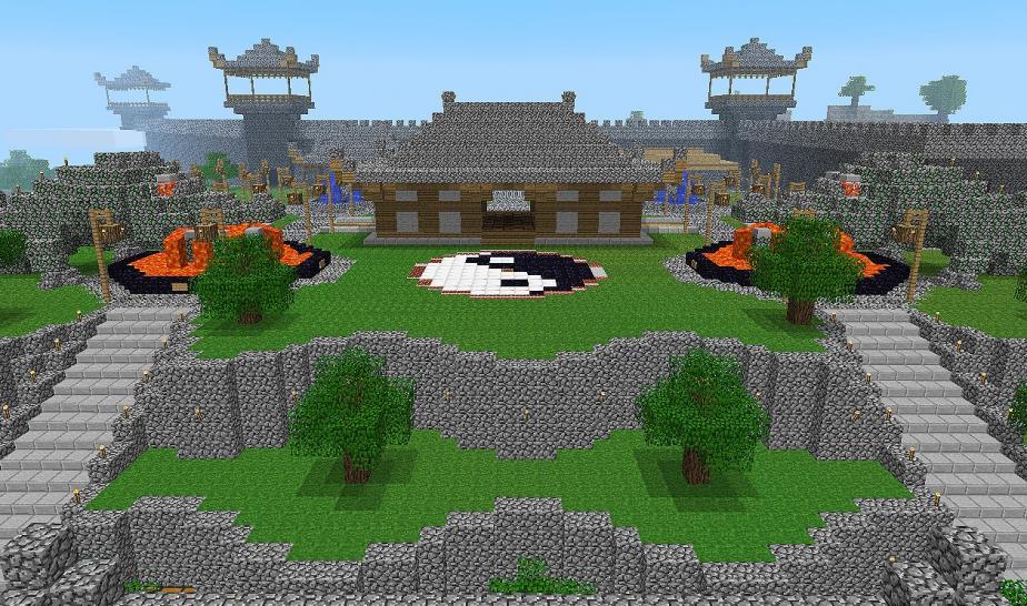 solche Gebäude kann man mit Minecraft bauen