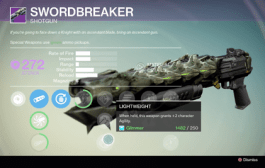 Destiny: The Dark Below – How To Get Swordbreaker Legendary Shotgun Guide