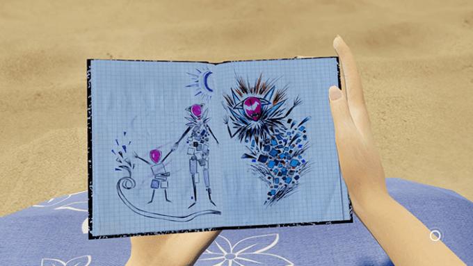 異様な姿をした「女王」と「姫」を描いた絵日記。各 ステージはこの絵日記が元になっている。
