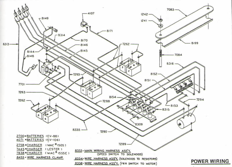 golf cart charger wiring diagram
