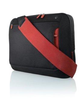 Belkin F8N051eaBR Kuriertasche (für Notebooks bis zu 43,2 cm (17 Zoll)) schwarz/rot - 1