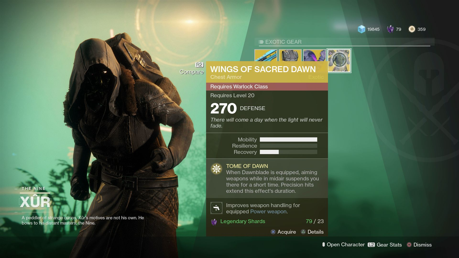 Xur Destiny 2 Xur Exotics Merciless Raiden Flux Doom Fang