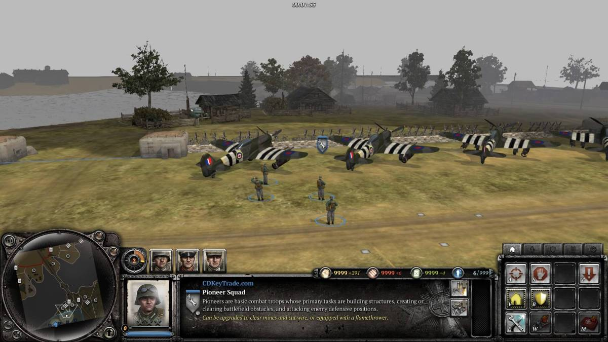 Company of Heroes 2 - Unlimited Fuel, Ammunition, Man Power and Population Cap Without Trainer