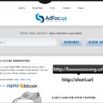 Gana dinero acortando enlaces con Adfoc.us