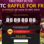 Promoción Bitcasino, apuntate gratis y entra en el sorteo!