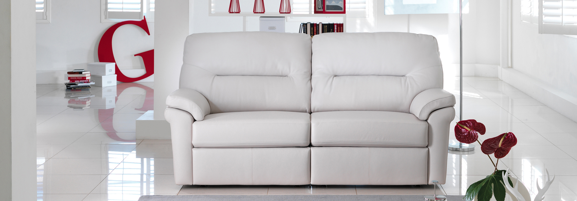 Shop 3 Seater Leather Sofas At Barkers Furniture G W