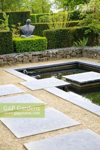 GAP Gardens - Modern garden with gambion, formal pond and ...