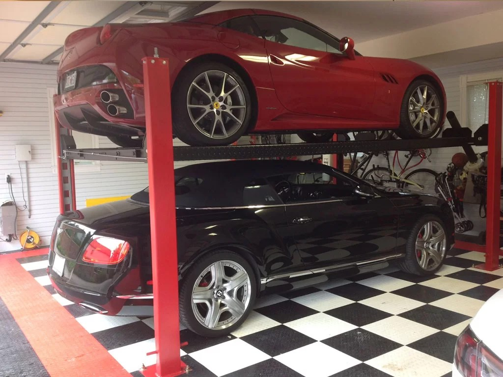 Garage Car Lift For Storage St Louis Best Residential Garage Car Lift Company