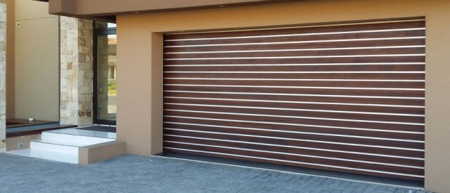 Wooden and Aluminium Garage Door