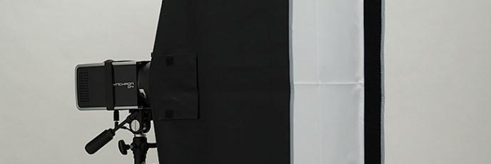 「ストリップ型30×120ソフトボックス」400wsモノブロックのF値測定