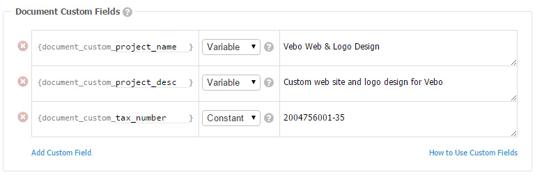 How to use custom fields in your invoices