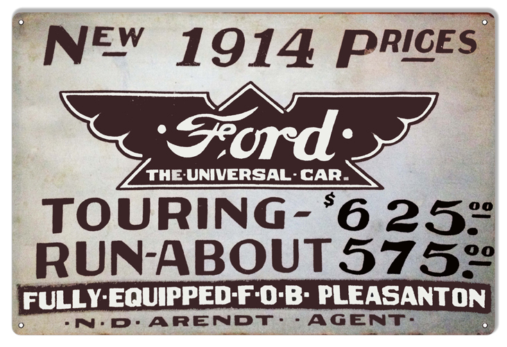 Classic Car Signs : Ford car garage shop reproduction sign