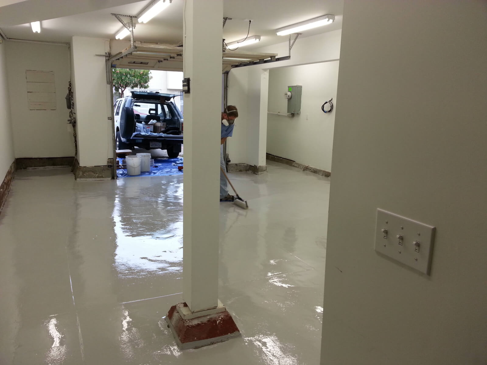 Garage Floor Epoxy Grand Junction Marcel S High Solids Garage Floor Epoxy And Ulti Mate Gray Cabinets