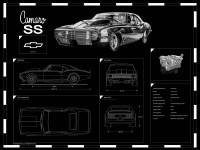 Engraved Car Blueprint on Sale at Garage Goals Official ...