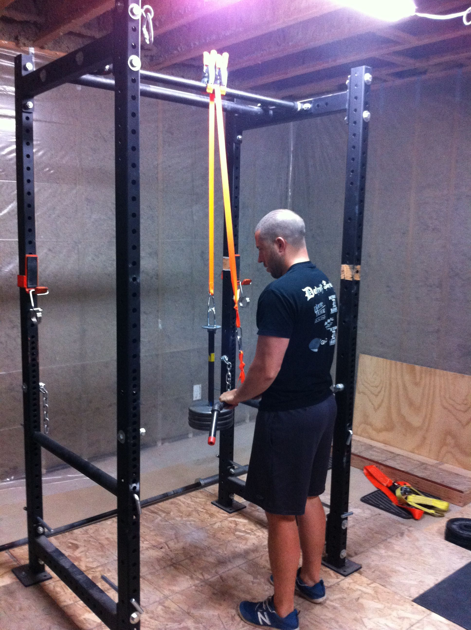 Diy Garage Gym Equipment Diy Lat Pull Down Garage Gym Guy