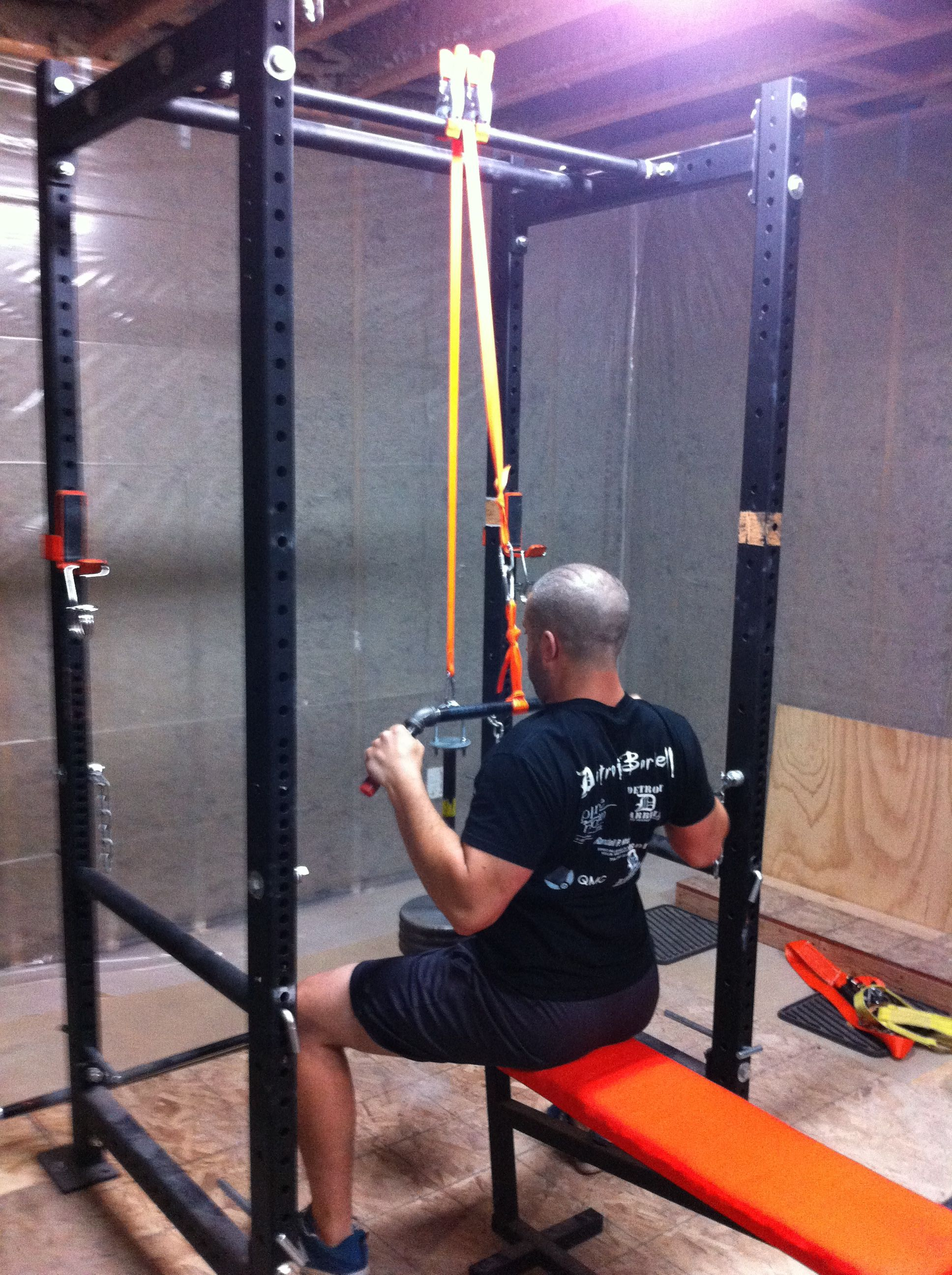 Diy Garage Gym Equipment Homemade Power Rack With Lat Pulldown Homemade Ftempo