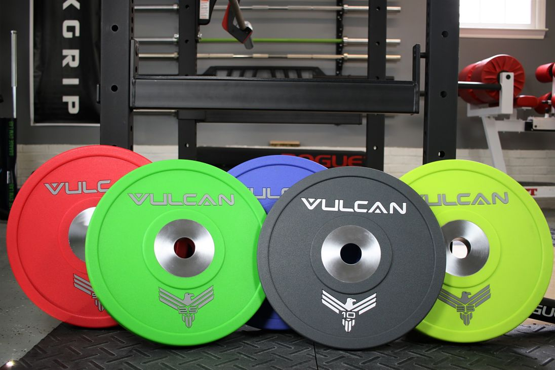 Garage Gym Reviews Titan Vulcan Urethane Bumper Plates Review Garage Gym Lab