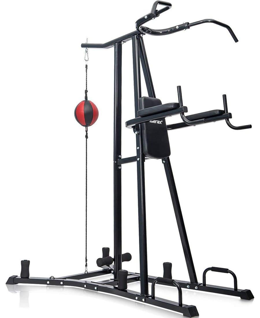 Garage Gym Reviews Titan Merax Boxing Power Tower Review Garage Gym Pro