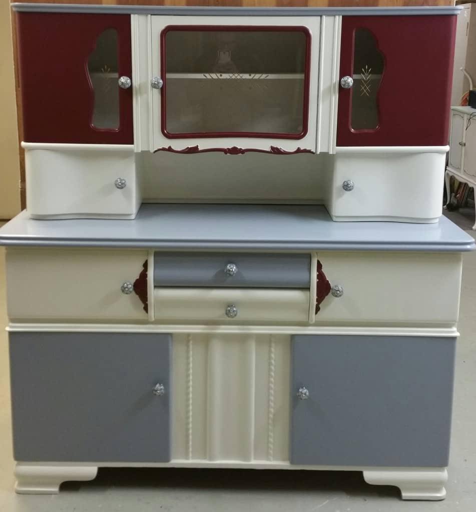 Weiß Alte Küchenschränke Mit Cganite Tops Und Brett Getäfelten Aufkantung  Trim