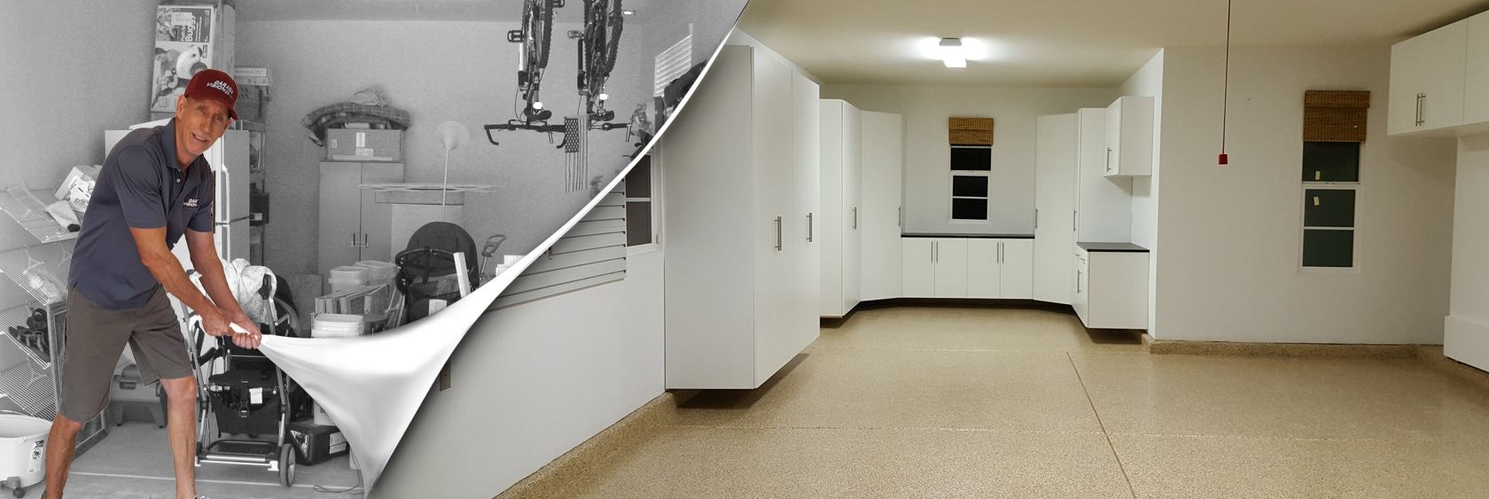 Garage Floor Epoxy Steps Garage Flooring And Cabinets In Solana Beach California Garage