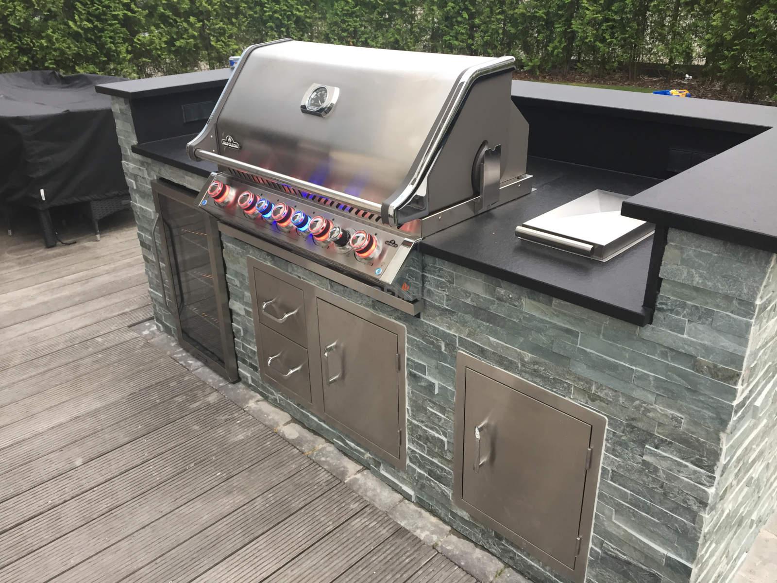 Sommerküche Mauern : Outdoor küche selber mauern outdoor küche bauen avec wok küche