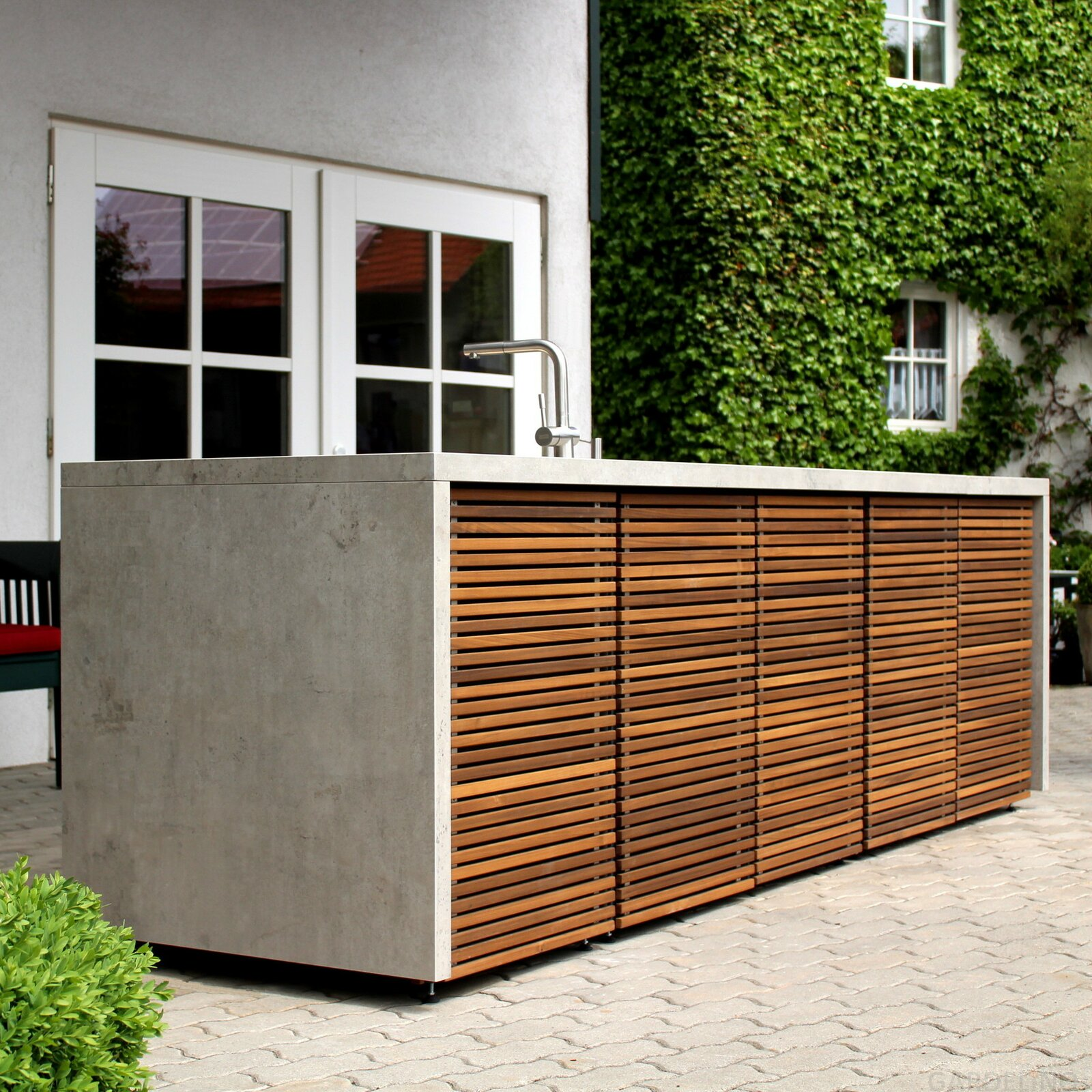 Materialien Outdoor Küche Herrenhaus Cubic Outdoor Kitchen Fachhandel