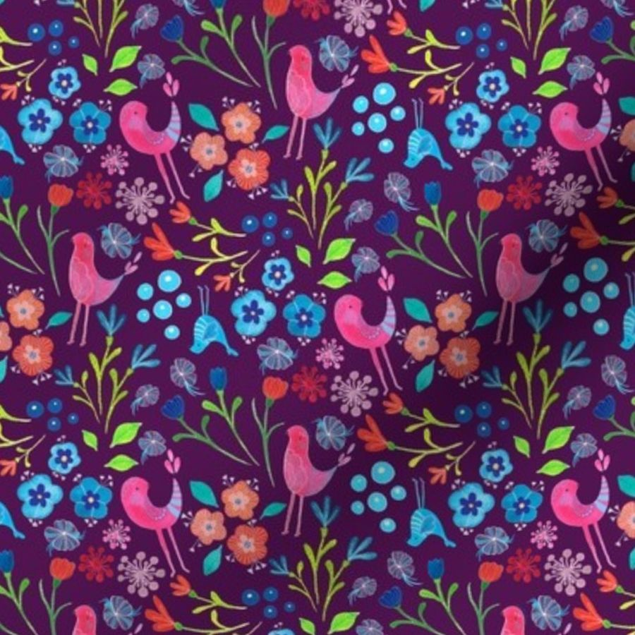 Fleur Jardin Fabric By The Yard