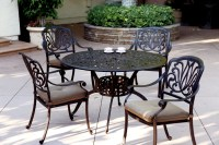 "Patio Furniture Dining Set Cast Aluminum 48"" Round Table ..."