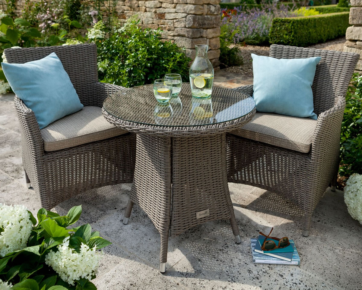 Hartman Bali Bistro Furniture Set In Chestnut Tweed 350 Garden4less Uk Shop - The Garden Furniture Clearance Company